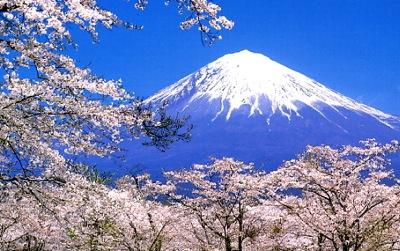 富士山と桜0402-1