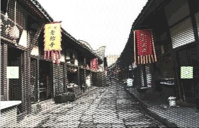 昔の建物が残る重慶の街並