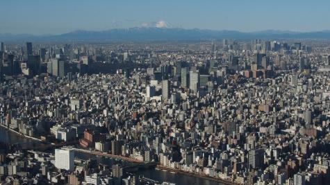 東京スカイツリーからの富士山