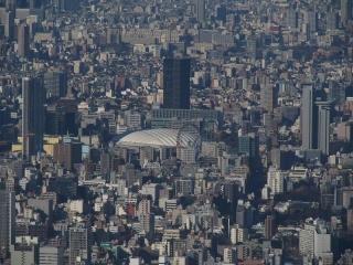 東京ドーム(東京スカイツリーより)