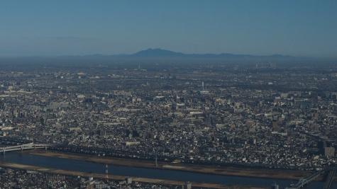 筑波山方向(東京スカイツリーより)