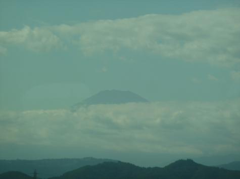 東海道新幹線 のぞみ229号からの富士山