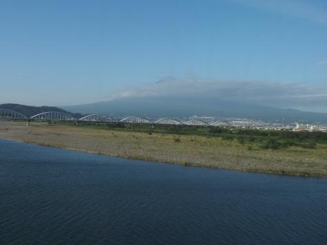 富士川橋梁からの富士山