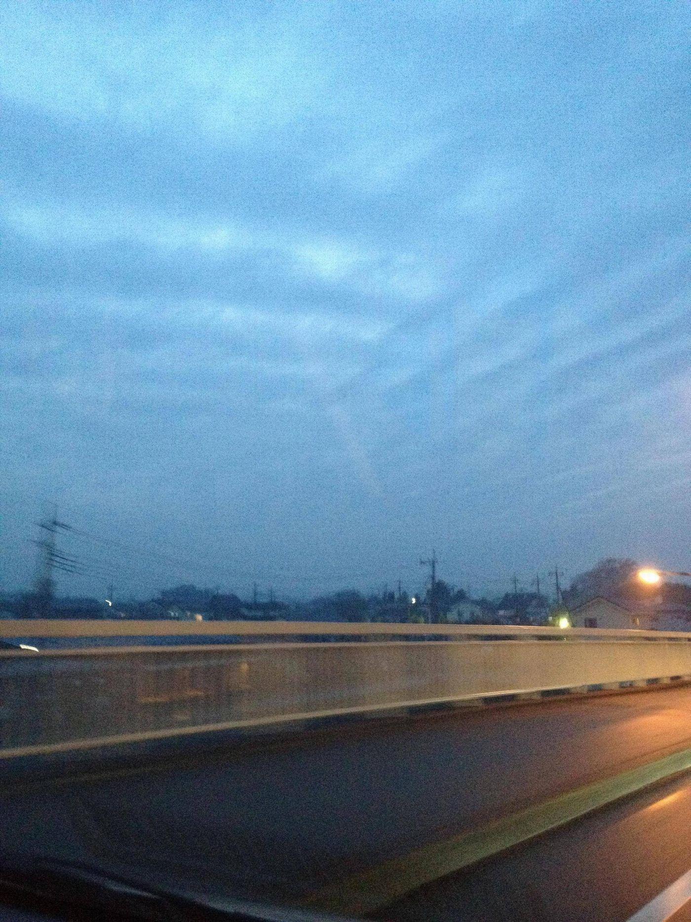 茨城南西での地震雲