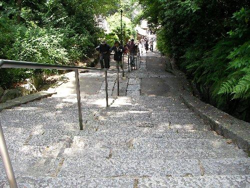 上がって来た石段