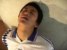 ゲイ動画:サカユニノーパン体育会でかまらチラリズム !!