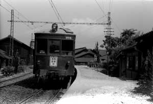 平坂線の終点港駅前