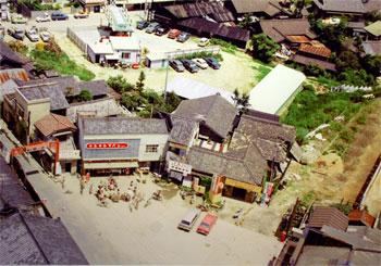 刈谷市駅前を空から望む