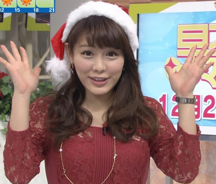 美馬怜子 スケスケ巨乳サンタコスキャプ画像(エロ・アイコラ画像)