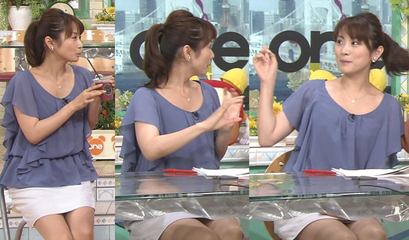 高島彩 きわどいミニスカートキャプ画像(エロ・アイコラ画像)