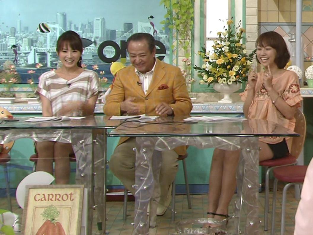 高島アナと戸部アナの太ももキャプ画像(エロ・アイコラ画像)