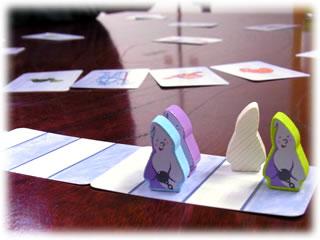 2011年2月親子ゲーム&お寿司会:オバケの試験カードゲーム