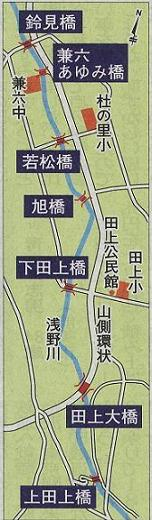 大学門前町浅野川七つ橋渡り