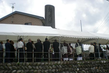 昭和33年に建立された忠魂碑です。