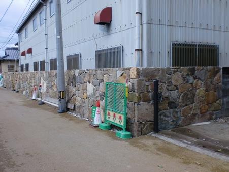 石垣工事~石貼り