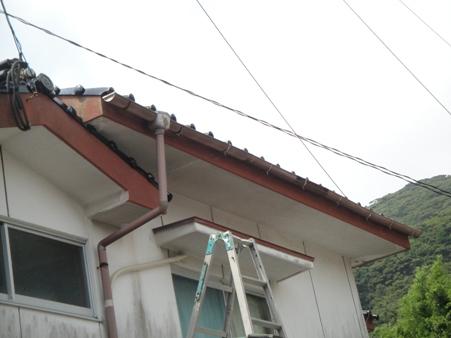 軒樋の修繕