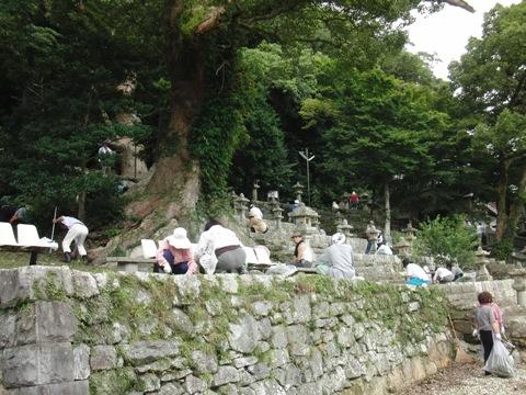 八幡宮神社大祭の準備