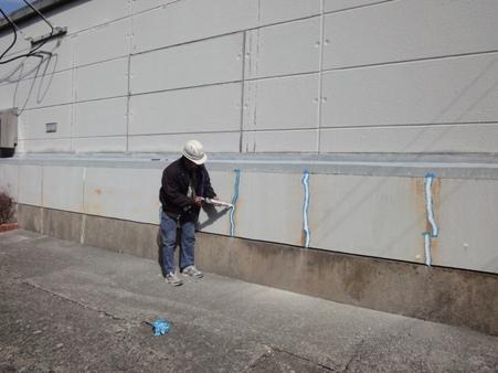某施設 外壁の補修
