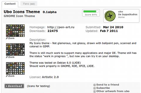 Ubo Icons Theme Ubuntu アイコンテーマ ダウンロード