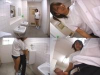 【手コキ動画】男子トイレに現れたシコシコブルマ女子校生【pornhost】