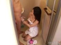 【フェラ手コキ動画】ちんぽ洗いが気持ち良すぎて射精しちゃった僕【megafilex】