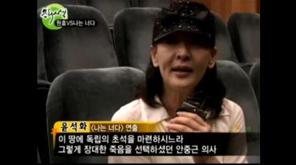 自ら舞台女優であり、名演出家のユン・ソクファさん 運よく、昨年舞台がはねたあと、いろいろお話することが叶いました
