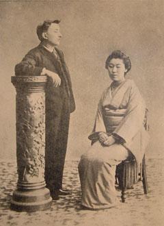 ハーンとセツ夫人(明治25年5月)